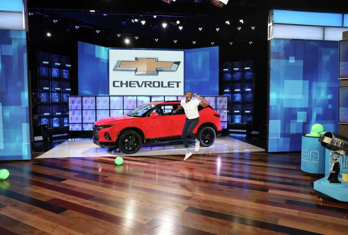 """Houston resident Jarvis Stevenson won a 2019 Chevrolet Blazer on """"The Ellen DeGeneres Show"""" on May 29, 2019"""