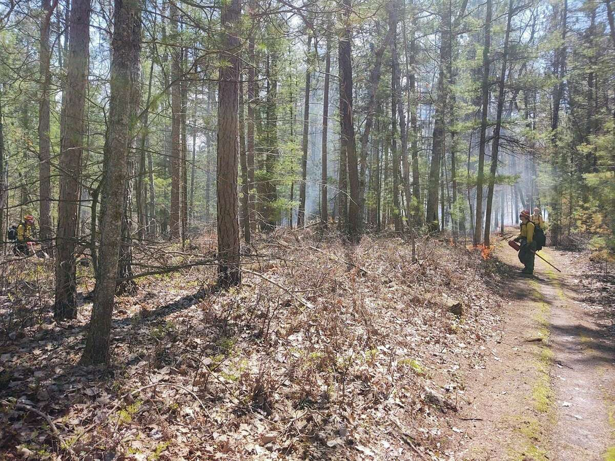 The NPS conducted a prescribed burn at Sleeping Bear National Lakeshore, burning over 2,000 acres. (Courtesy Photo/NPS)