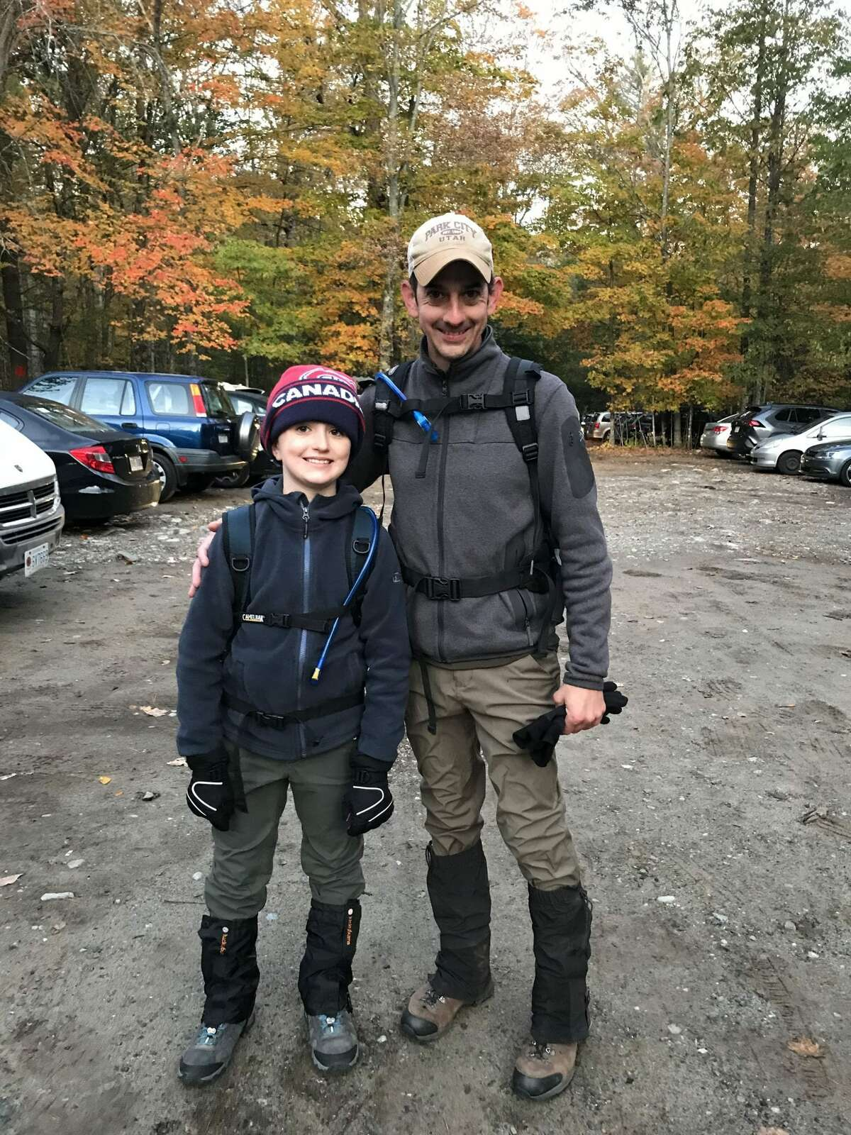 Jack and Peter Buccinna at the base of Giant Mountain in 2019. (Provided photo)