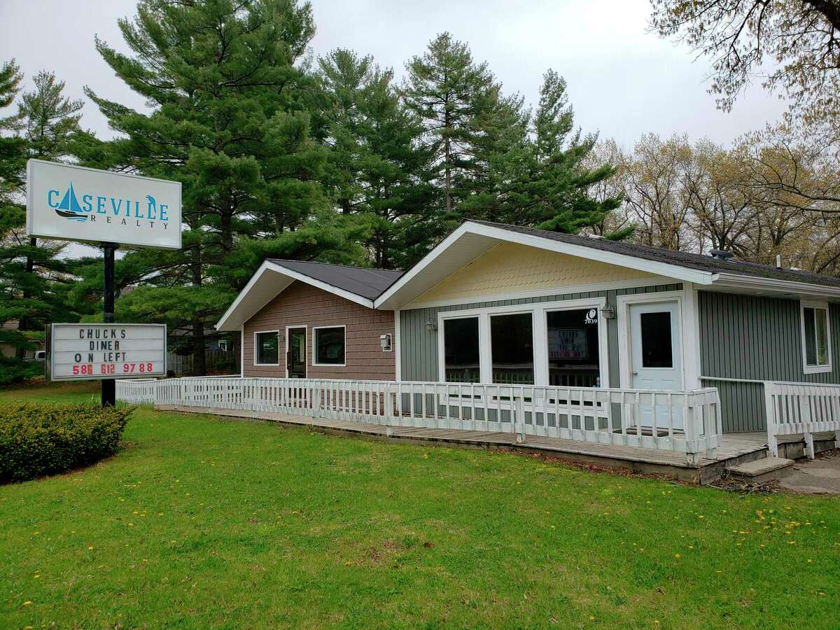 The former Caseville Realty building along M-25 has been proposed to hold Caseville's first medical marijuana dispensary. Chuck Kloka, owner of Chuck's Diner, has been instrumental in bringing one to the area. (Robert Creenan/Huron Daily Tribune)