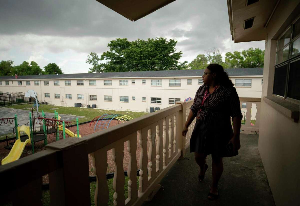 Shalonda Rivers started a tenants union and is an activist after living at Cordoba Courts for nearly 15 years. Photographed at Cordoba Courts on Friday, Feb. 14, 2020, in Opa-locka, Fla.