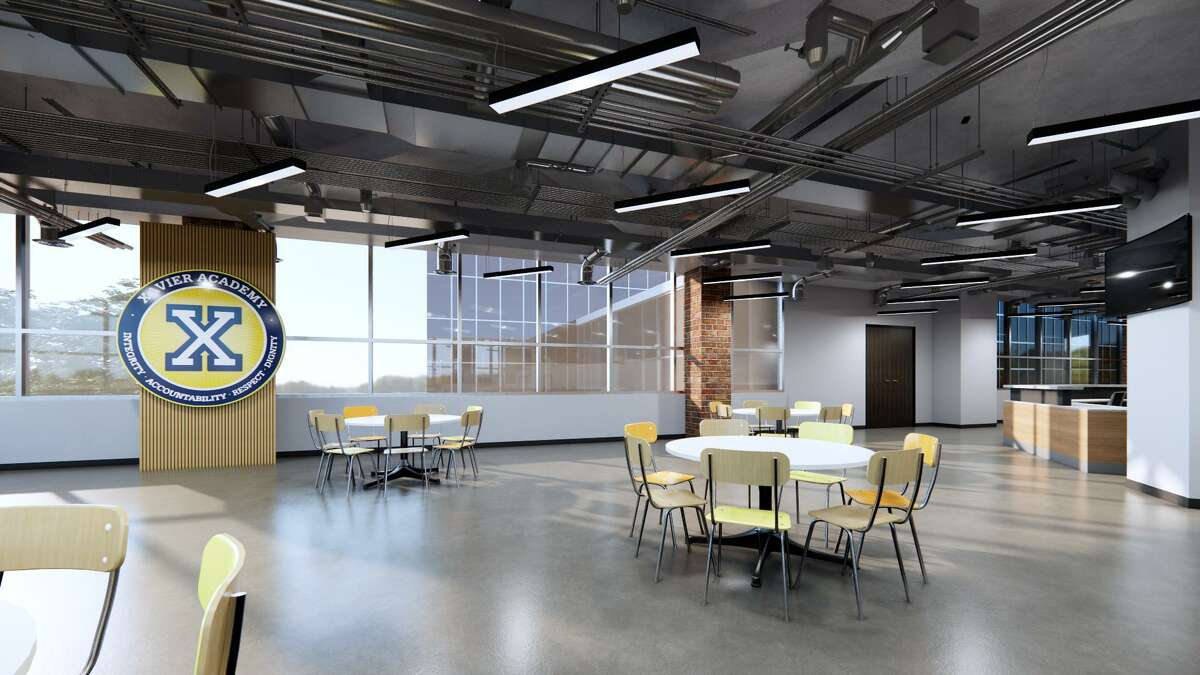 A rendering of Xavier's new cafeteria at its 1001 West Loop South campus.