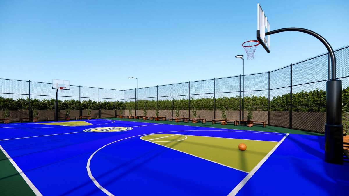 A rendering of Xavier's new basketball court at its 1001 West Loop South campus.