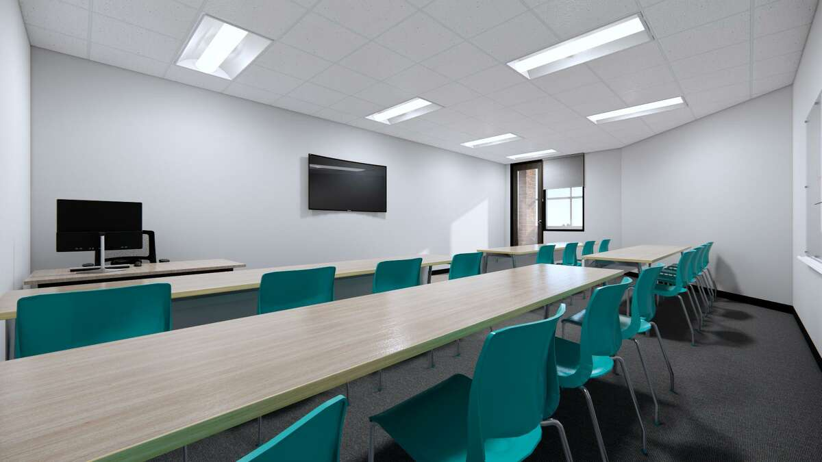 A rendering of one of Xavier's new classrooms at its 1001 West Loop South campus.