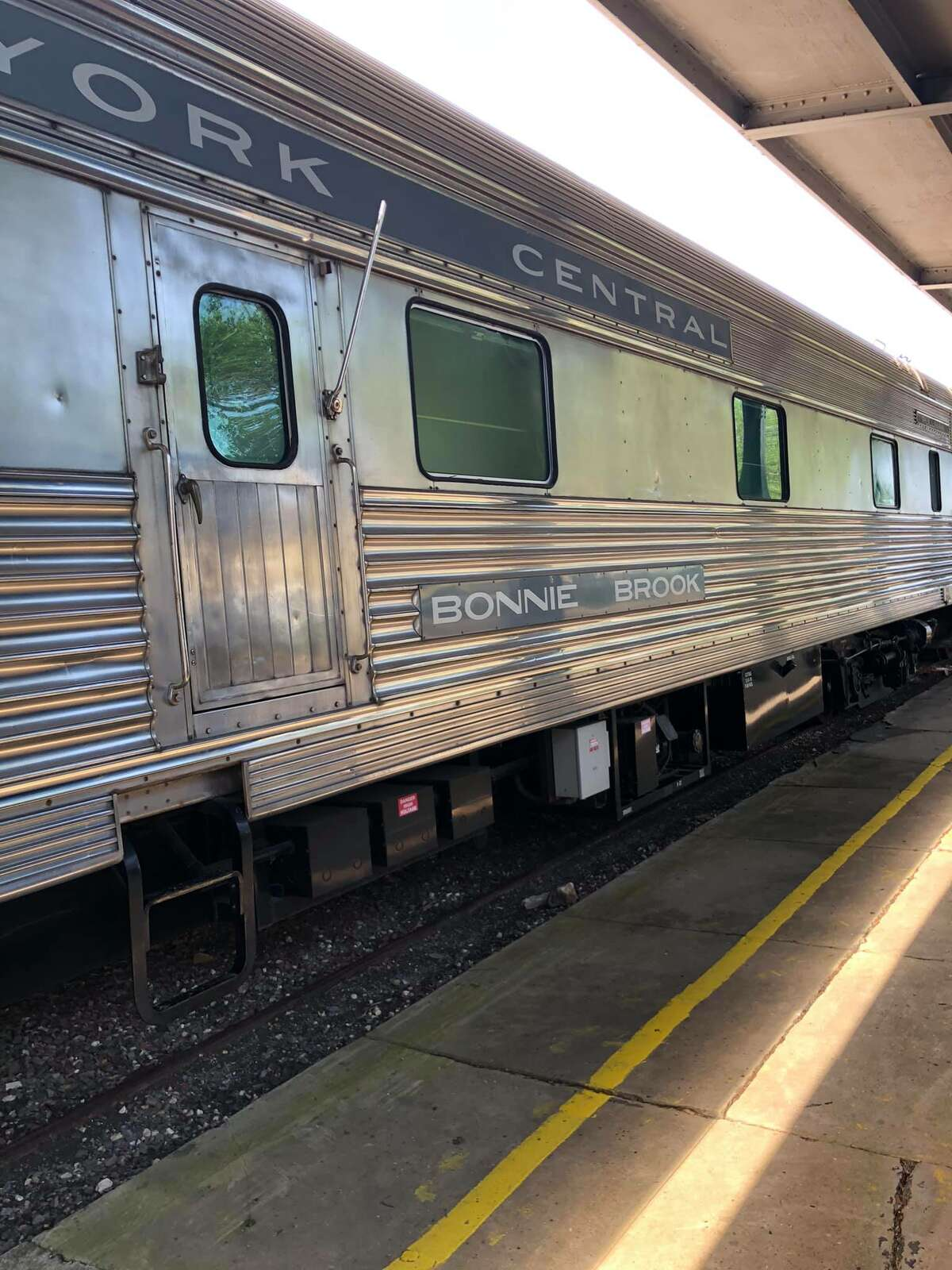 Built in 1949 for the New York Central Railroad, the Bonnie Brook served on the New York Central's New England States train between Boston and Chicago for many years.