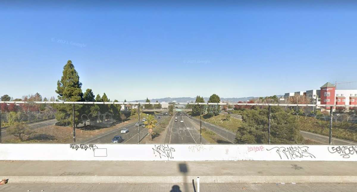 I-980, as seen from 14th St., Oakland, Calif.