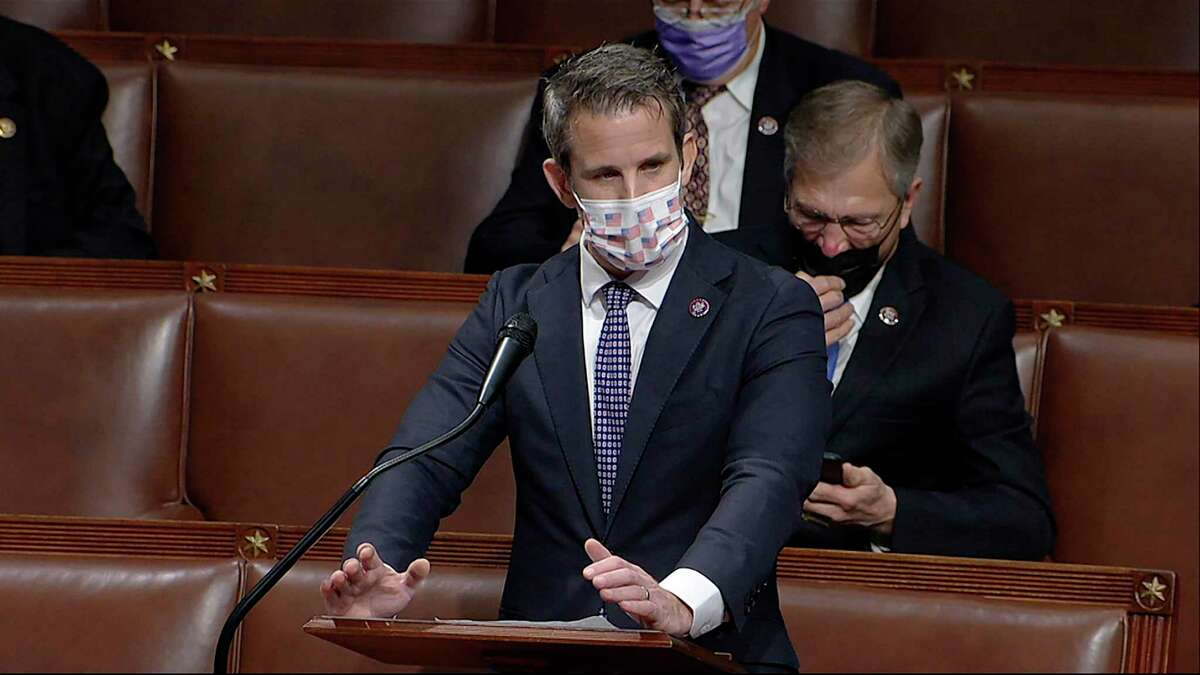 A reader heaps praise on U.S. Rep. Adam Kinzinger, R-Ill., who has stuck with principles in backing Wyoming U.S. Rep. Liz Cheney. ,