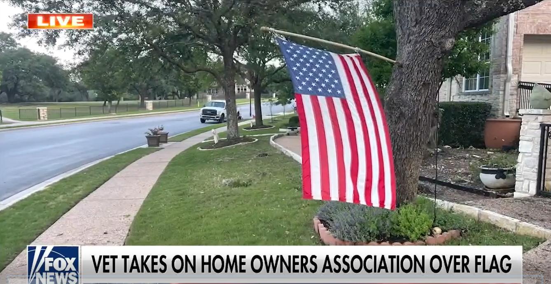 Texas veteran's American flag deemed a 'violation' by HOA