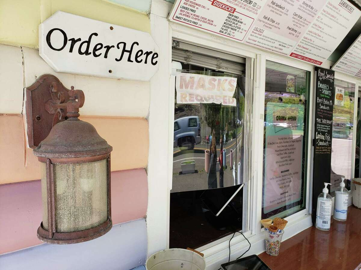 The order window at Heinbeck's Stand in Wilton, CT