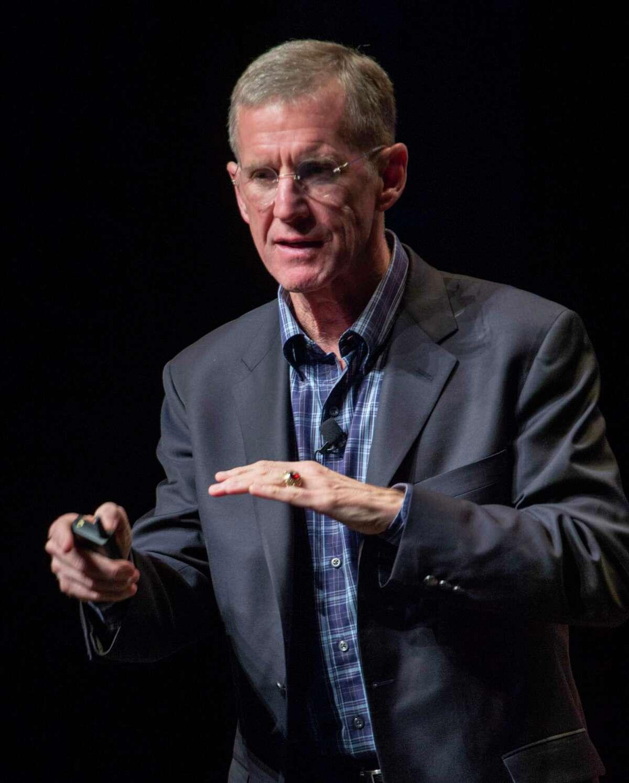 General (Ret.) Stanley McChrystal speaks on Feb. 11, 2019, at the kickoff event of Priority Midland. Tim Fischer/Reporter-Telegram