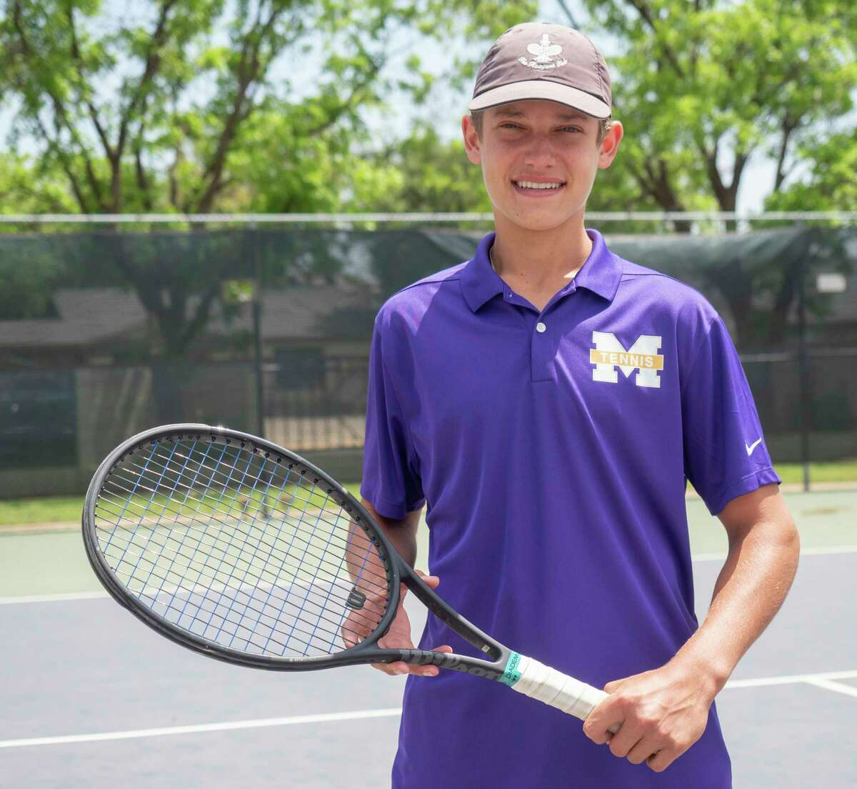 Midland High's Tyler Stewart will compete at the UIL State tournament for singles tennis. 05/12/2021 Tim Fischer/Reporter-Telegram