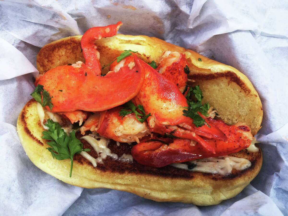 The Jack is a lobster roll with chunks of butter-poached lobster dressed in garlic aioli.