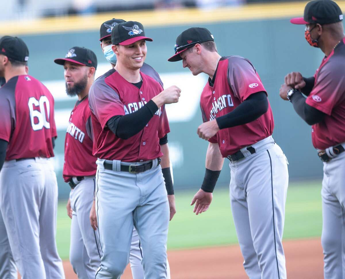 Giants minor-leaguer Drew Robinson, who lost his right eye in a 2020 suicide attempt, homered and doubled for Triple-A Sacramento on Tuesday.