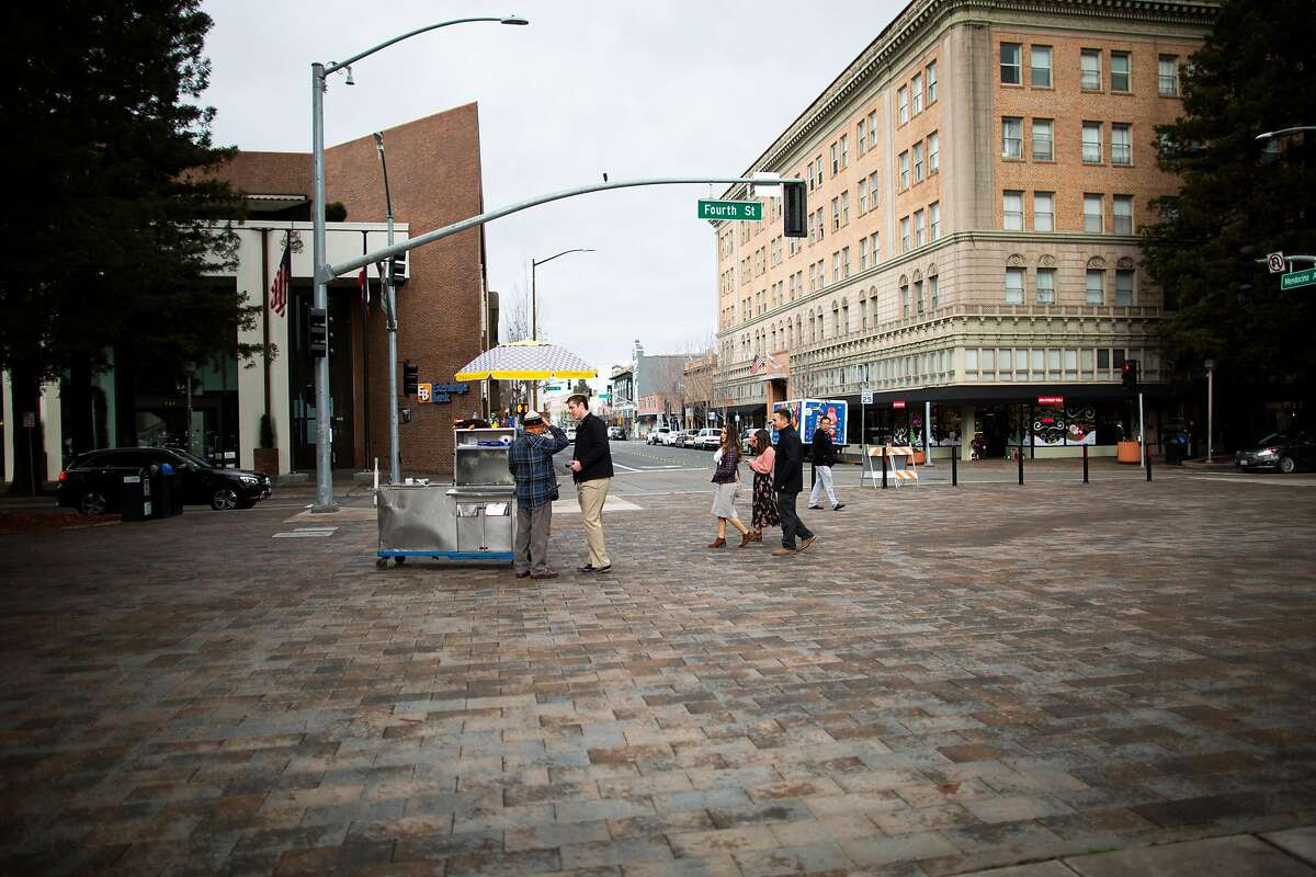 A report by the San Francisco think tank SPUR suggests that the Bay Area could solve its housing problems by concentrating development in downtown areas, like here in Santa Rosa, rather than building on open land far from city centers or mass transit.