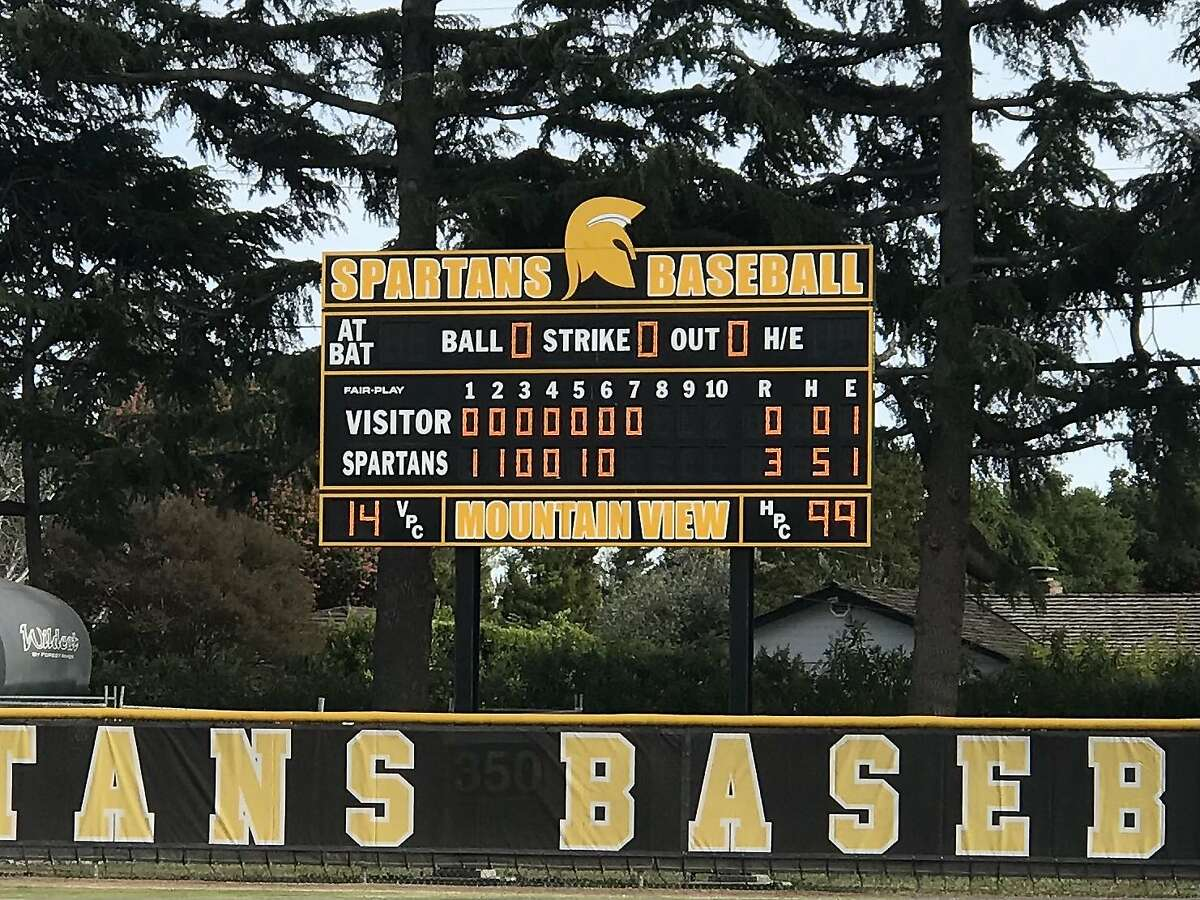 The scoreboard tells the tale after Mountain View senior Gabriel Barrett threw the school's first no-hitter in more than 20 years in a3-0 defeat of Wilcox-Santa Clara.
