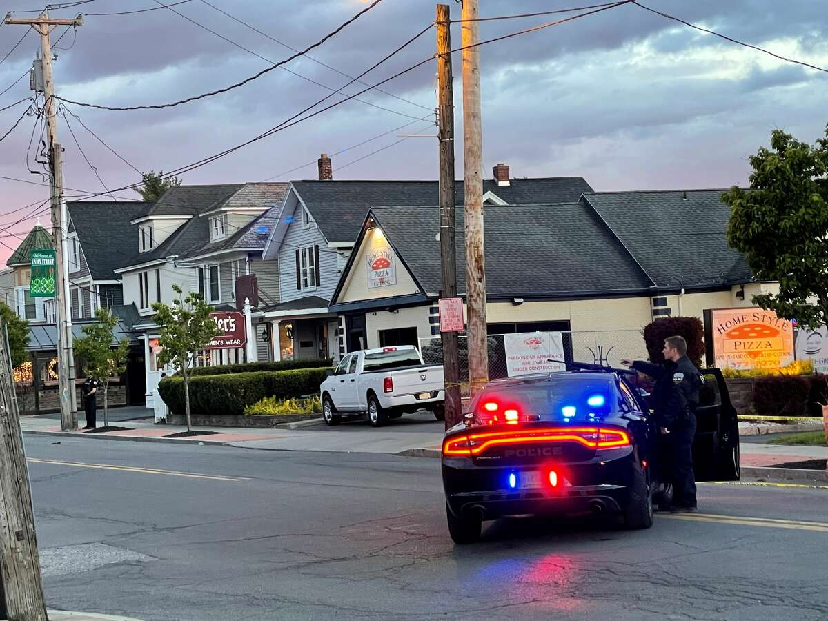 A large police response was centered on a house on Union Street, Schenectady, Wednesday, May 12, 2021.