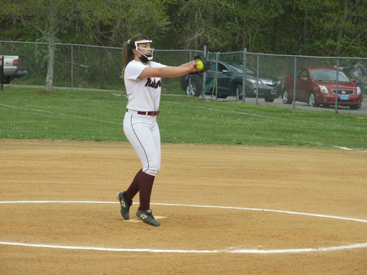 Torrington's freshman pitcher Aubrie Jones pitched no-hit softball through six innings of a Raider win over St. Paul Wednesday afternoon at Torrington High.