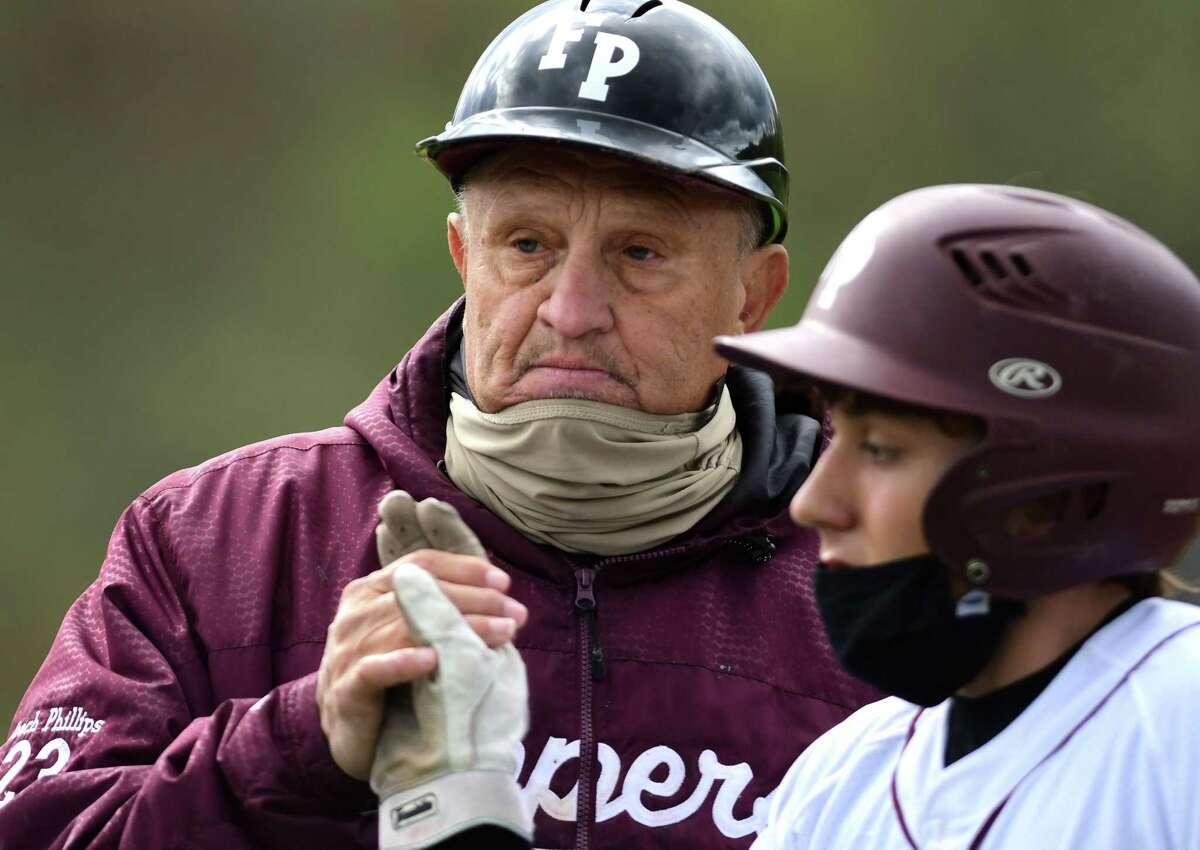 Fort Plain baseball coach Craig Phillips is seen during a game against Duanesburg on Monday, May 10, 2021 in Delanson, N.Y. (Lori Van Buren/Times Union)