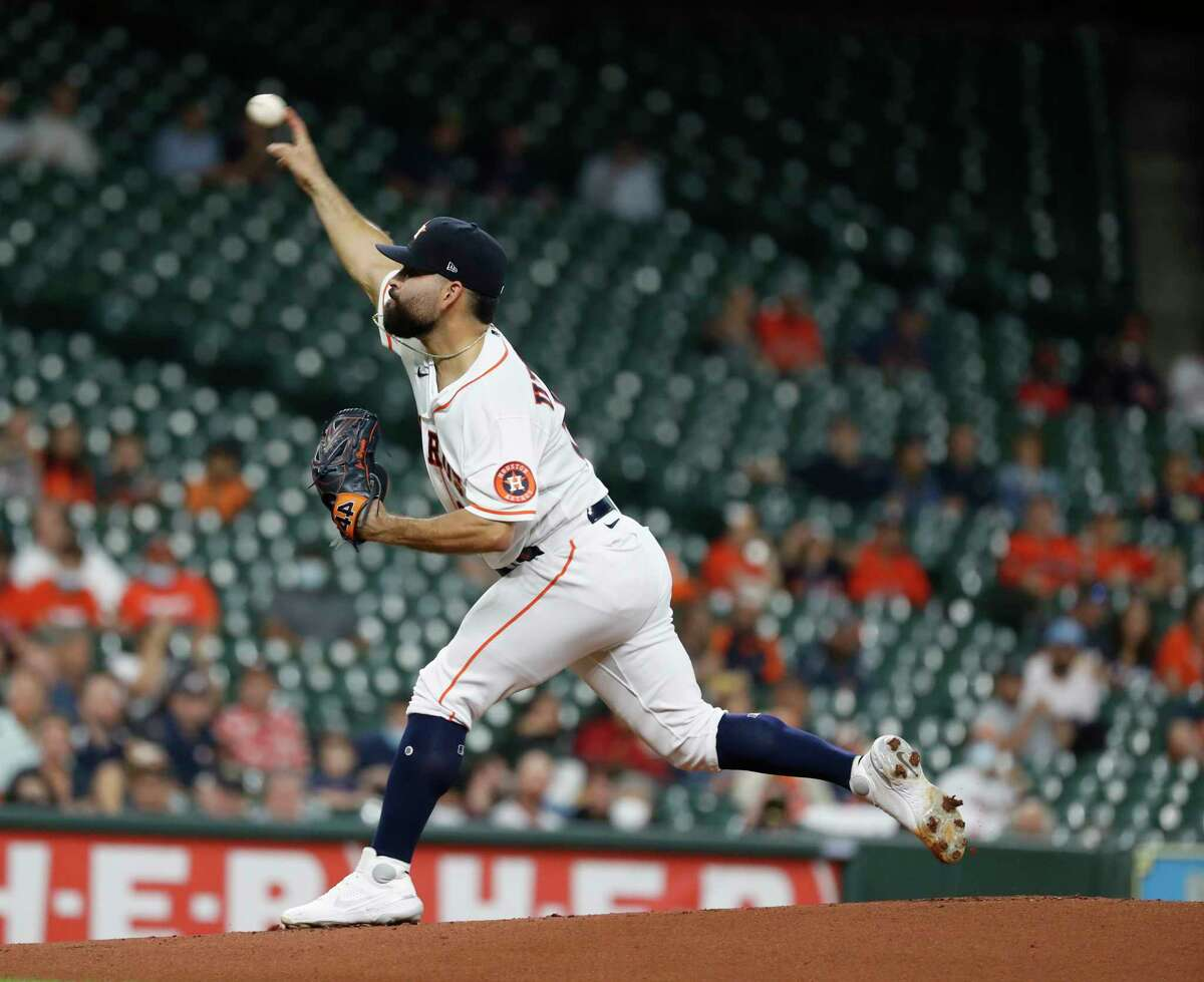 José Urquidy has not pitched for the Astros since being lifted early in his May 12 start against the Angels with a shoulder ailment.