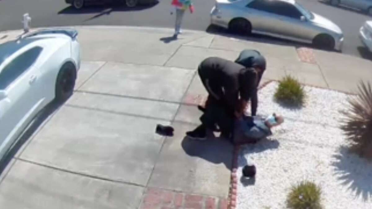 An 80-year-old man was robbed while taking an afternoon stroll on the 14200 block of Acapulco Road in San Leandro on Saturday. The suspects -- one an 11-year-old -- were arrested Wednesday.