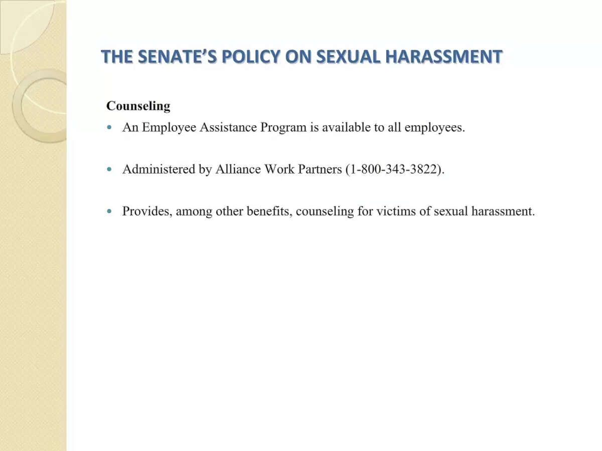 Slides from Texas Legislature Sexual Harassment Training