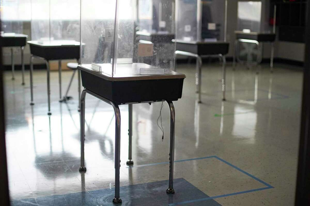 A classroom at IDEA's Hardy campus in Houston on Thursday, Oct. 1, 2020.