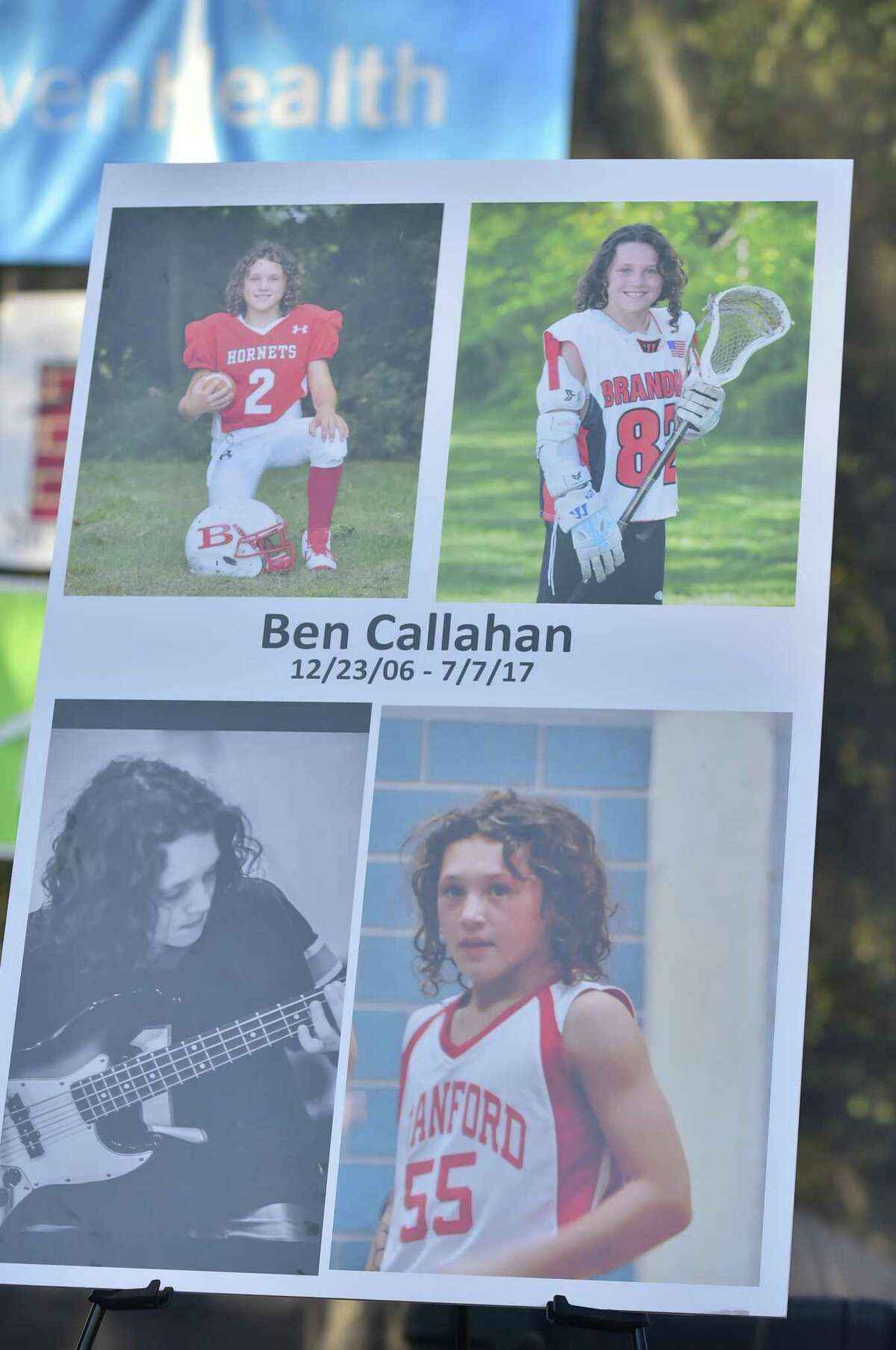 Thousands of people attended a candlelight vigil on the Branford Green in July 2017 in memory of Ben Callahan, 10. The Ben Callahan Sports and Fitness Complex is being built in his memory.