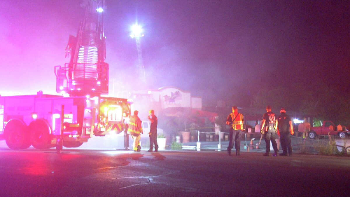 Firefighters spent hours battling the blaze at The Grill at Leon Springs. The structure was deemed a complete loss.