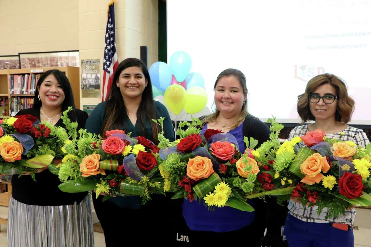 Cindy Uribe, Daisy Gonzalez, Linda Flores and Maribel Isais were recognized as part of the LISD Teachers and Para-professionals of the Year,