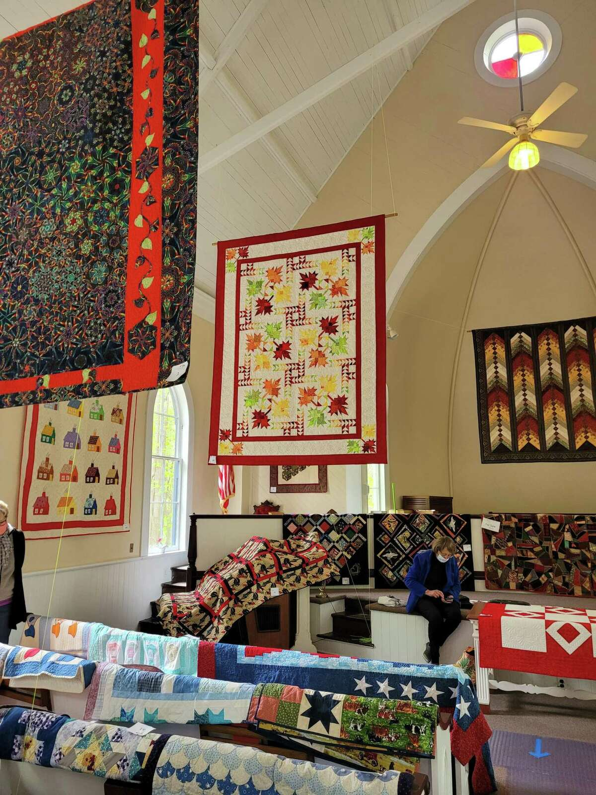 Haddam Neck Congregational Church held its 32nd Annual Quilt Show May 8-9. Quilts were displayed in the church sanctuary.