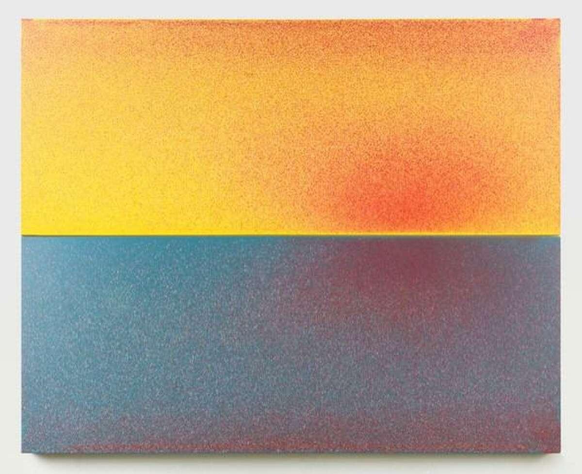John Knuth, (b. 1978,) Bright Morning Light, 2021, Acrylic/Flyspeck on canvas, 48 x 60 inches, (121.9 x 152.4 cm,) (diptych,)