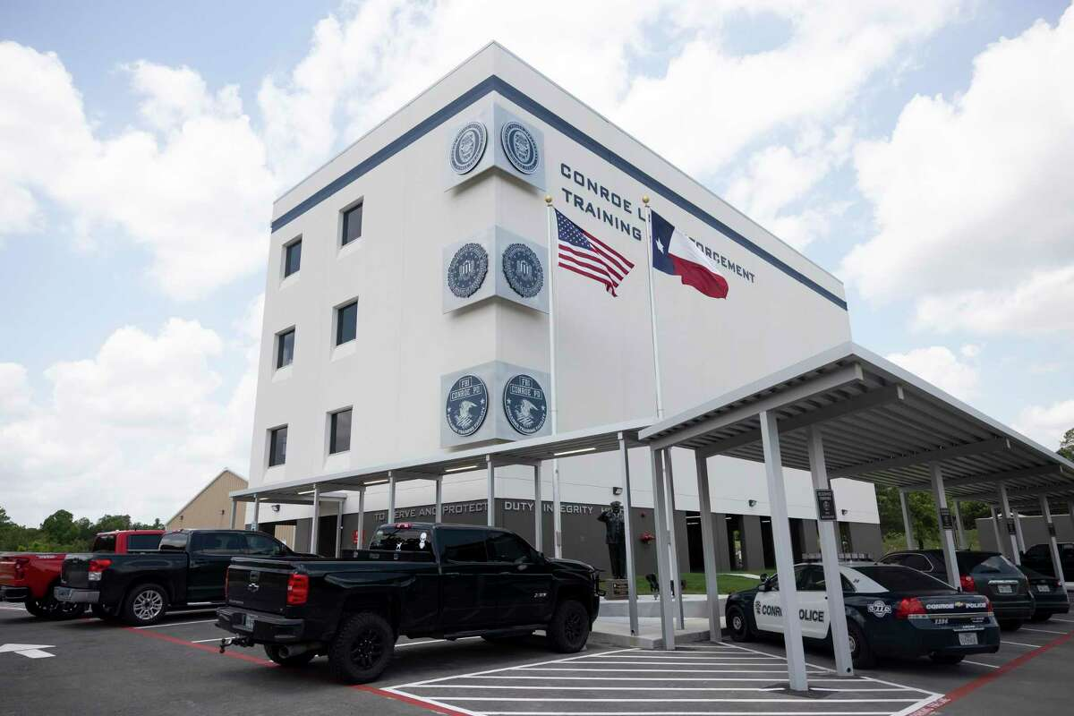 The Conroe Law Enforcement Training Facility is seen this week in Conroe. The facility was built after their previous building was destroyed during Hurricane Harvey and cost an estimated $6 million.