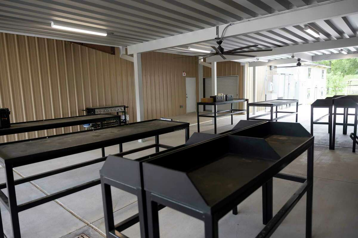 The gun cleaning area at the Conroe Law Enforcement Training Facility is seen, Tuesday, May 11, 2021, in Conroe. The facility was built after their previous building was destroyed during Hurricane Harvey and cost an estimated $6 million.