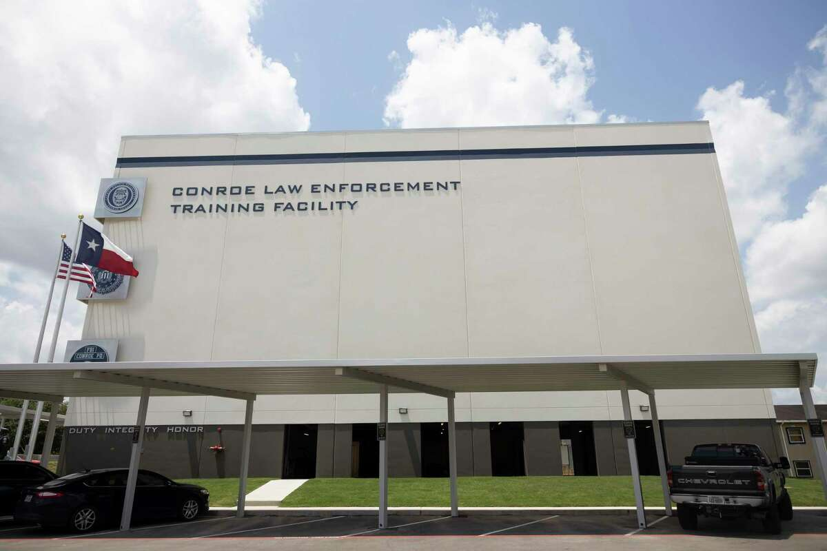 The Conroe Law Enforcement Training Facility is seen, Tuesday, May 11, 2021, in Conroe. The facility was built after their previous building was destroyed during Hurricane Harvey and cost an estimated $6 million.
