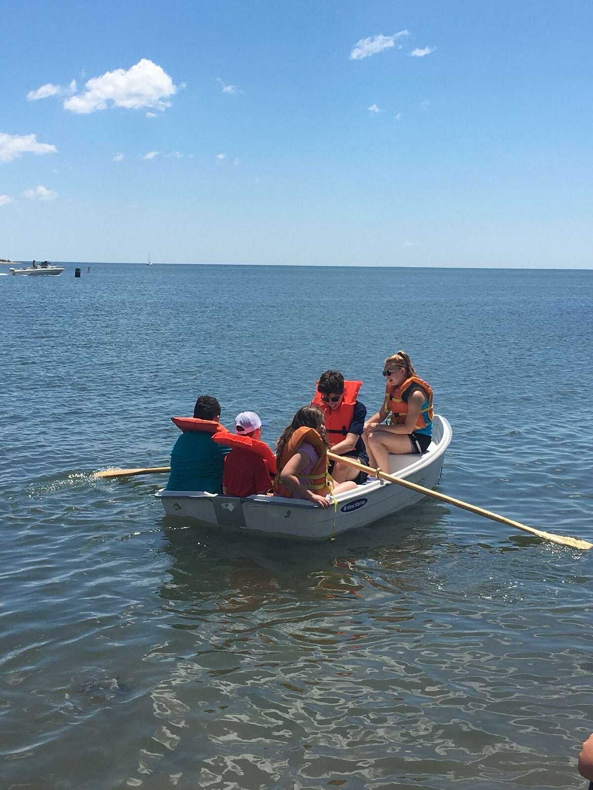 Campers at Guilford Parks & Recreation's Camp Menunkatuck enjoy boating - one of many activities offered for children over the summer.