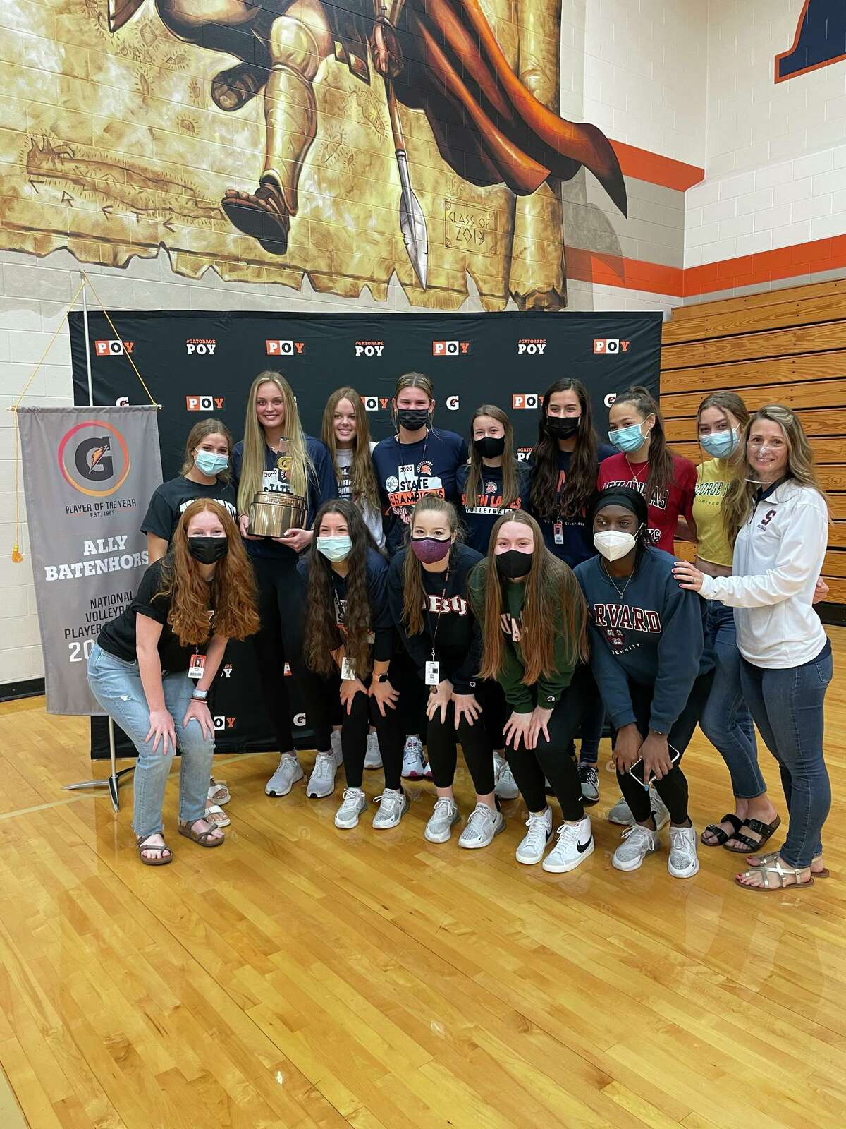 Seven Lakes' Ally Batenhorst was honored as the Gatorade National Volleyball Player of the Year during a May 12 ceremony with family, friends, teammates, coaches and staff at Seven Lakes High School.