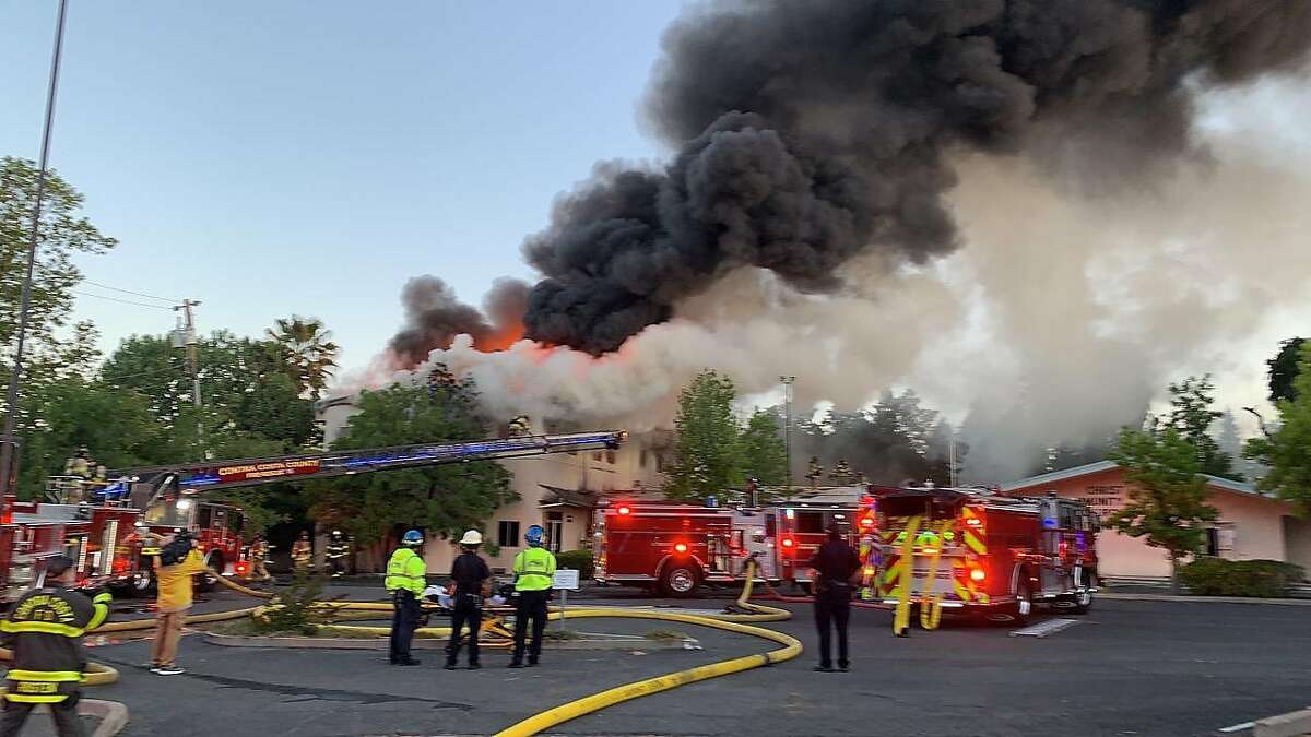 More than a dozen fire engines and about 75 personnel were dispatched to extinguish the fire.