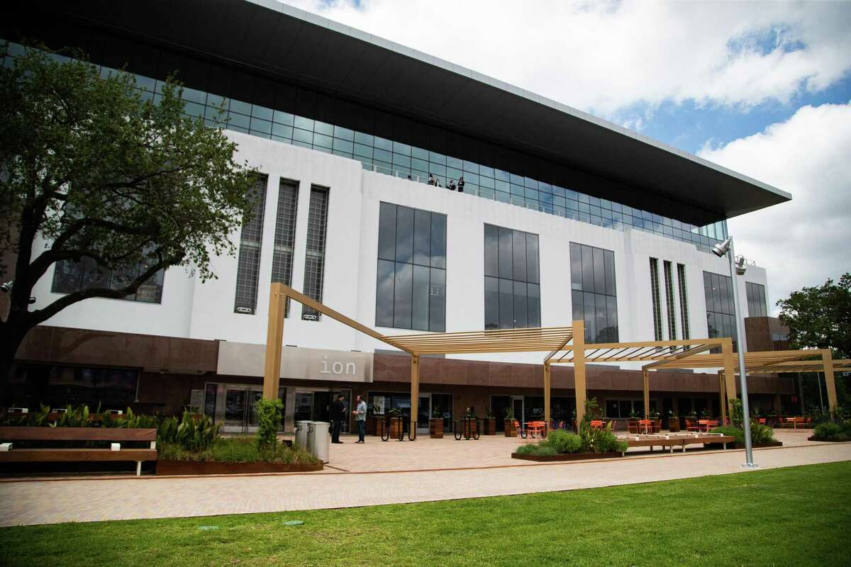 Exterior view of The Ion, a 266,000 square-foot building designed to bring Houston's entrepreneurial, corporate and academic communities together into a collaborative space, Thursday, May 13, 2021, in Houston.