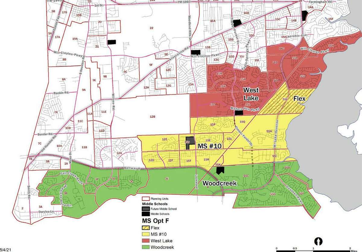 Humble ISD approved its new middle school boundaries in anticipation of opening Middle School No. 10 in 2022.