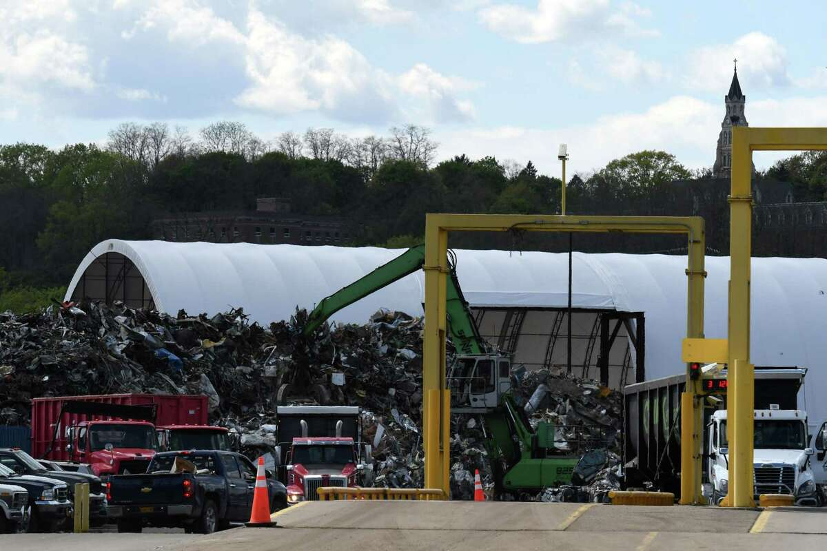 View of the Ben Weitsman of Albany metal recycling yard on Thursday, May 13, 2021, at the Port of Albany in Albany, N.Y. (Will Waldron/Times Union)