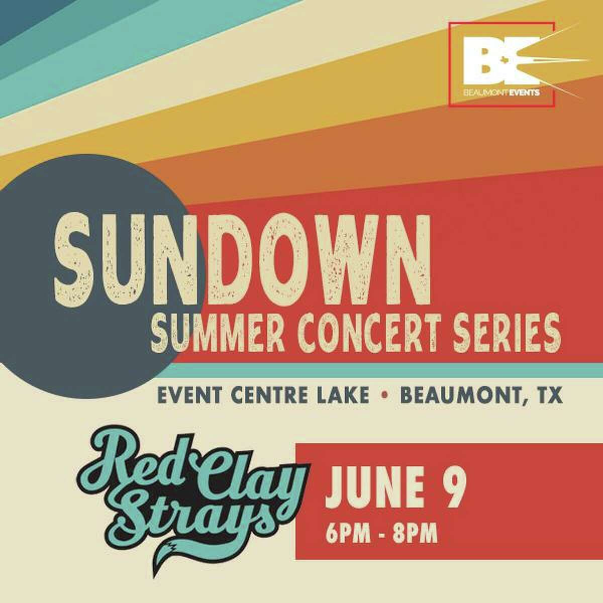 The Country band the Red Clay Strays will perform at the City of Beaumont's first Sundown Summer Series concert at the Event Centre Lake in Downtown on Wed, June 9.