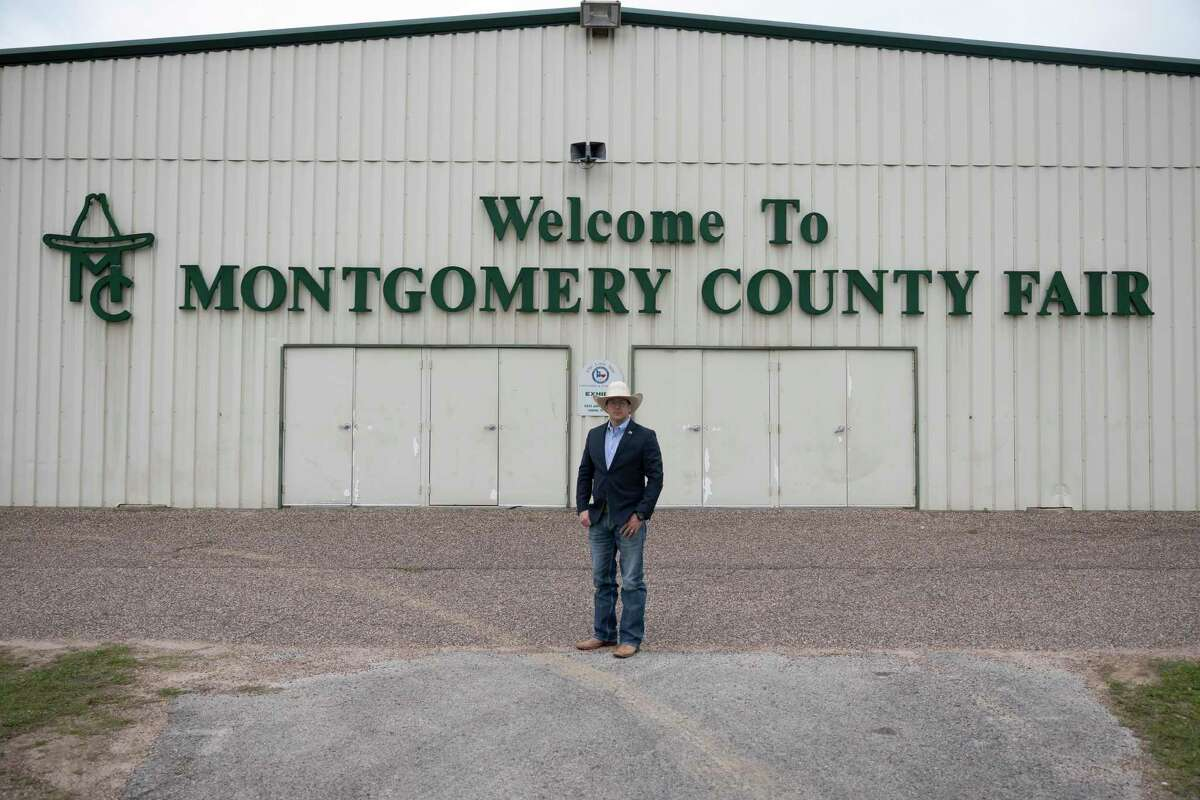 Brian Hayes, executive director of the Montgomery County Fair Association, poses for a portrait on the Montgomery County fairgrounds, Tuesday, May 4, 2021, in Conroe.