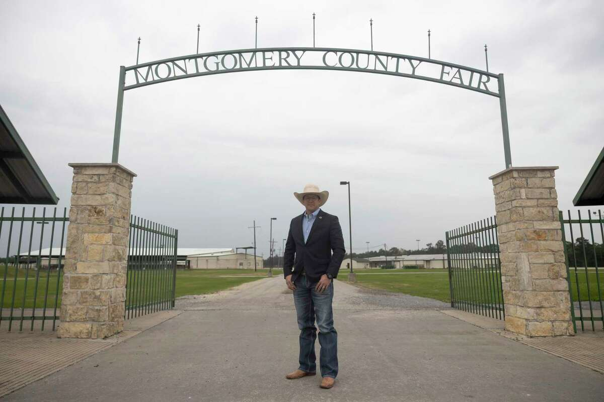 Brian Hayes, executive director of the Montgomery County Fair Association poses for a portrait on the Montgomery County fairgrounds, Tuesday, May 4, 2021, in Conroe.