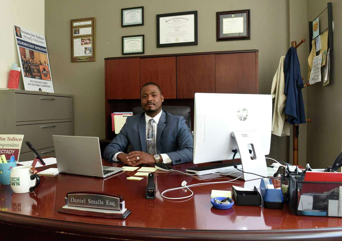 Attorney Daniel Smalls is seen in his office on Thursday, May 13, 2021 in Schenectady, N.Y. (Lori Van Buren/Times Union)