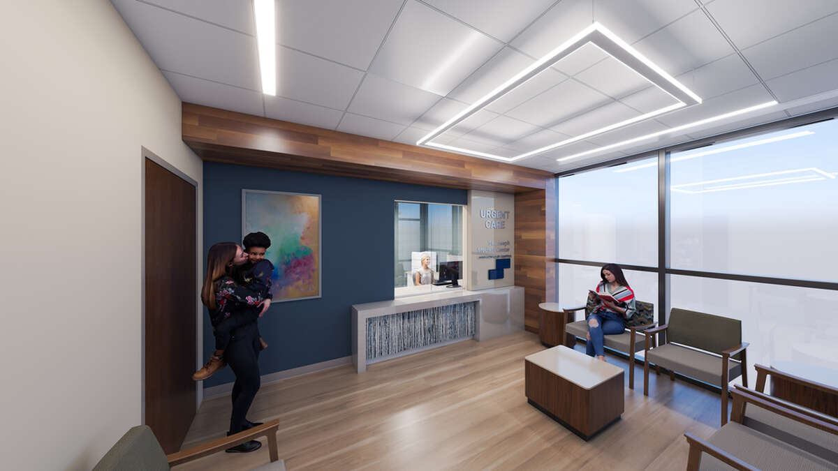 The renovations to St. Joseph Medical Center in downtown Houston include the addition of a new urgent care clinic. The hospital is part of Dallas-based Steward Health Care.