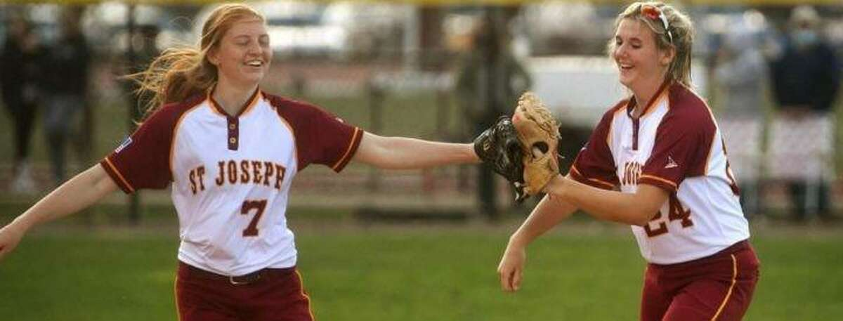 Brittany Mairano and Maddy Fitzgerald had hits in the first inning to help St. Joseph to a 1-0 lead.