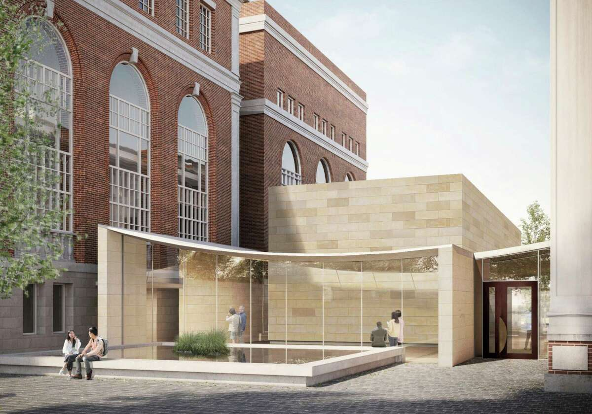 The new Wesleyan University art gallery building will be built with limestone blocks, similar to the material used in the Center for the Arts complex on the Middletown campus.