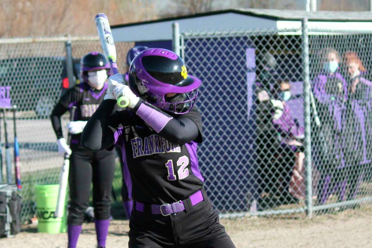 Cora Scott stands at the plate during a game earlier this spring. (Record Patriot file photo)