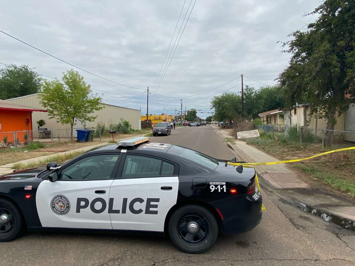 Laredo police blocked off the area of the 3700 block of Sanders Street. A man's death was determined to be the city's fourth homicide this year. The case is under investigation.