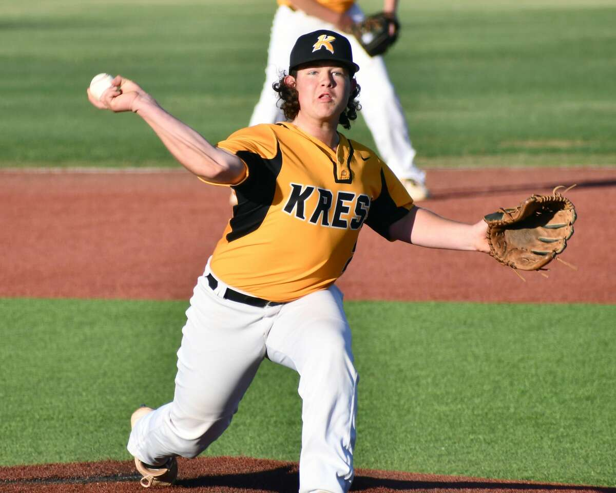Sophomore Kole Campbell pitched a complete-game shutout for Kress, scattering six hits and striking out eight batters.